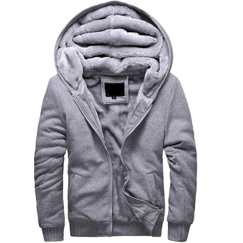 Winter Soft Jackets Solid Casual Tracksuits Fleece Warm Homme Hoodies Thick Men's Sportswear,QS163
