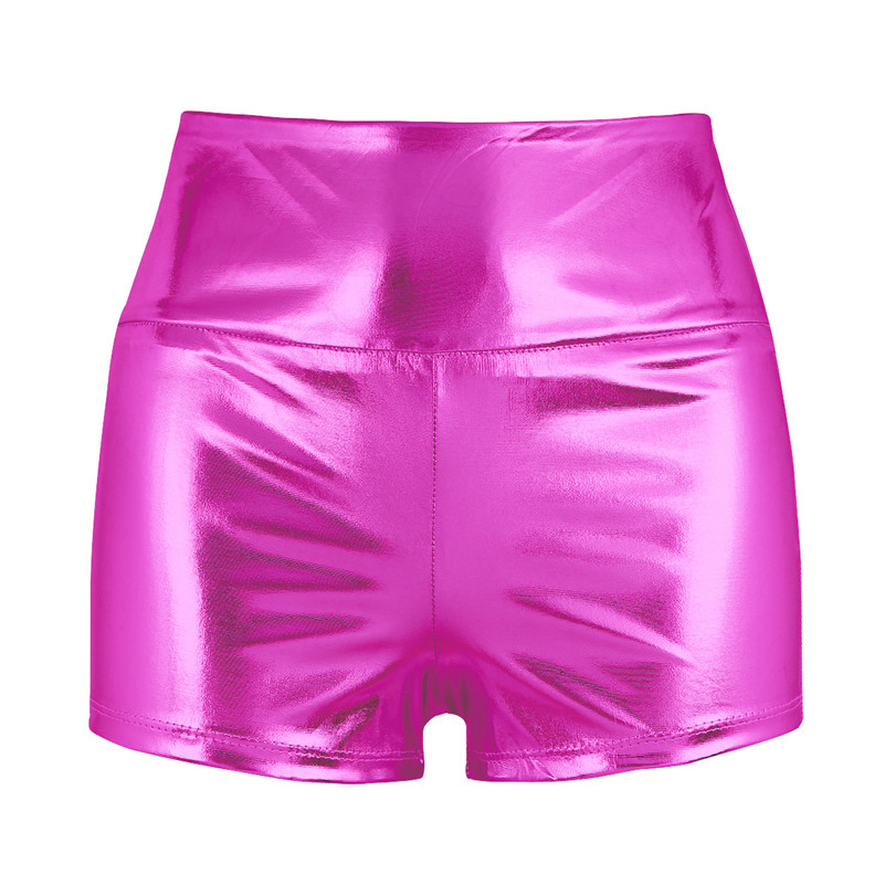 Girls Shiny Dance Shorts High-waisted Gymnastic Ballet Shorts Skinny Dancewear Fitness Workout Gym Slim Fit Stylish Dance Shorts