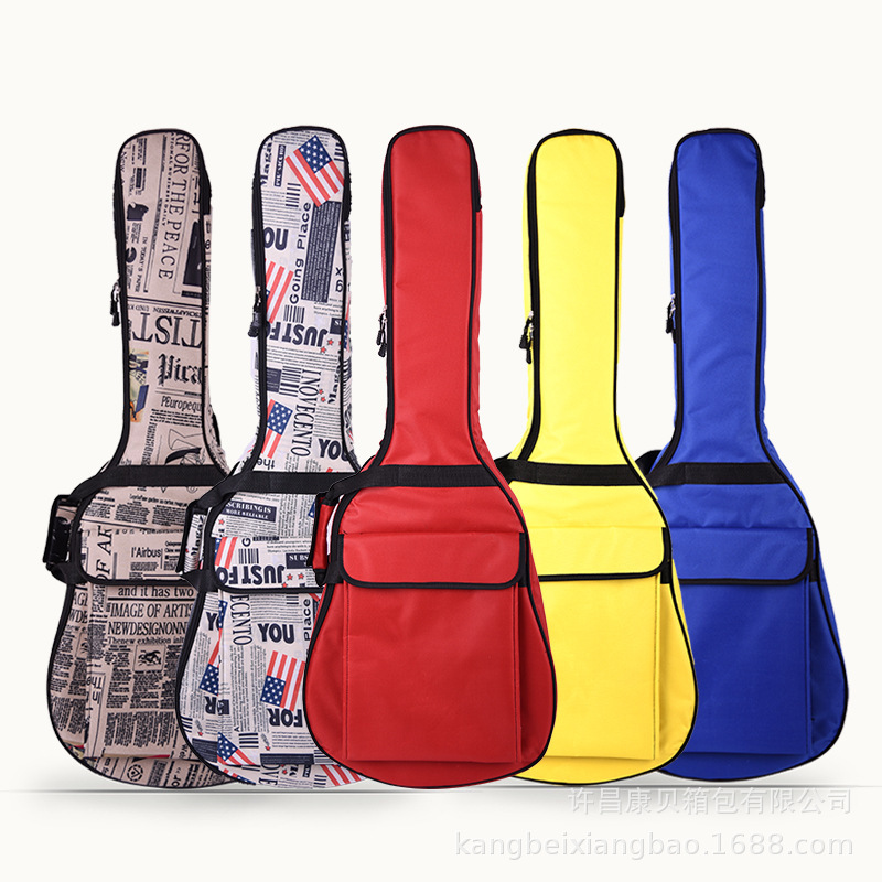 40/41 Inch Guitar Bag 6 MM Thick Sponge Soft Case Gig Bag Backpack  Oxford Waterproof Guitar Cover Case With Shoulder Straps