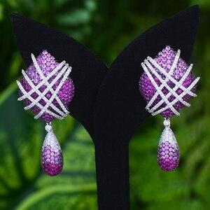 Image 3 - GODKI Famous 2019 Charms Waterdrop Trendy Women Earrings Cubic Zircon Drop Earring For Women Wedding Party Accessories