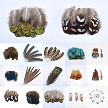 Перья фазана из натурального страуса для рукоделия, перья павлина для изготовления ювелирных изделий, вечерние украшения для дома