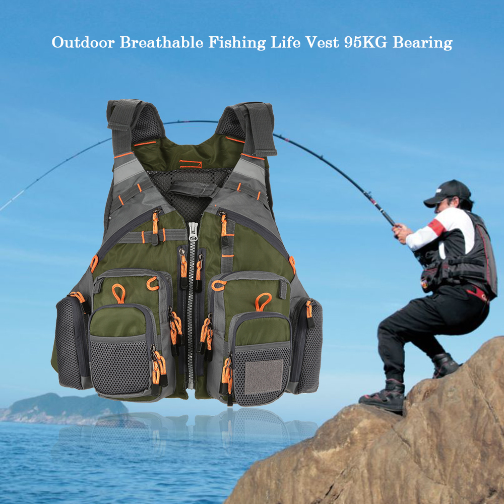 Fishing Vest Men Fishing Life Vest Fish Superior Buoyancy Life Safety Waistcoat Fishing Jacket Swimming Fish Safety Waistcoat|Fishing Vests|   - AliExpress