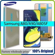 100% супер AMOLED 6,7 ЖК дисплей для samsung Galaxy A80 A805 SM A805F A90 A905F кодирующий преобразователь сенсорного экрана в сборе + Сервисный пакет
