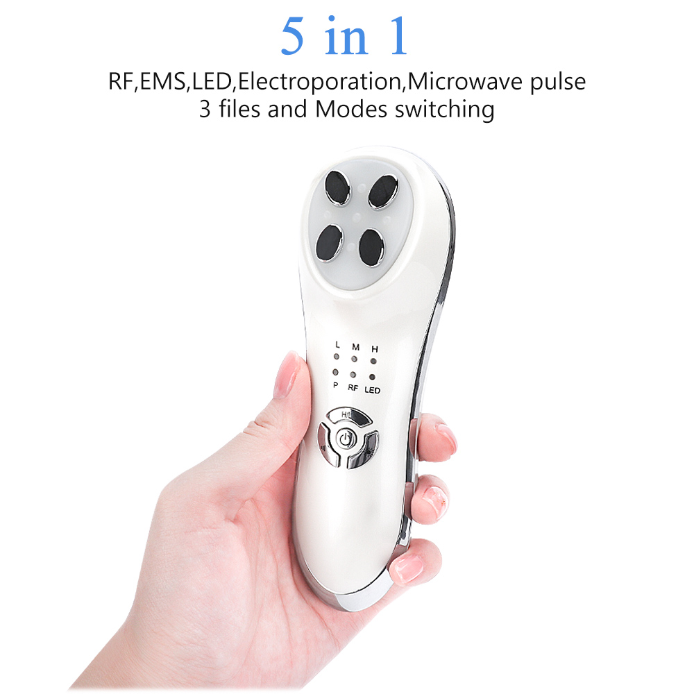 5 In 1 EMS Mesotherapy Electroporation RF Radio Frequency Facial LED Light Photon Skin Care Device Face Lifting Remover Wrinkle