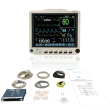 Портативный с ЭКГ многопараметрический 12 дюймов монитор состояния пациента