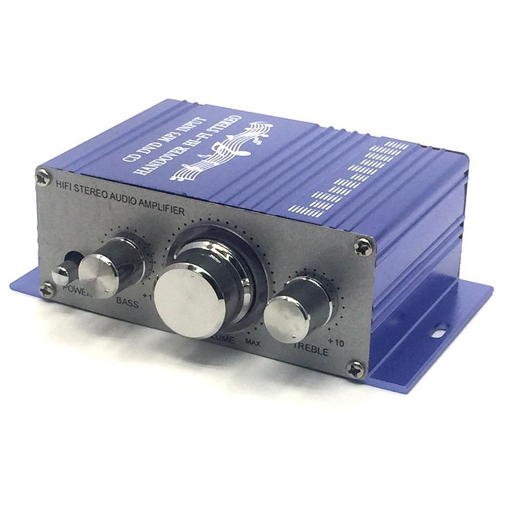 12V 2CH Car Amplifier Mini Hi-Fi Stereo Audio Small Subwoofer AMP for Car Motorcycle Radio MP3 Modified Accessories