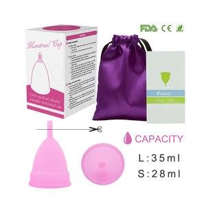 Image 5 - Gobelet menstruel pour femmes, hygiène féminine, gobelet médical en silicone, réutilisable, offre spéciale