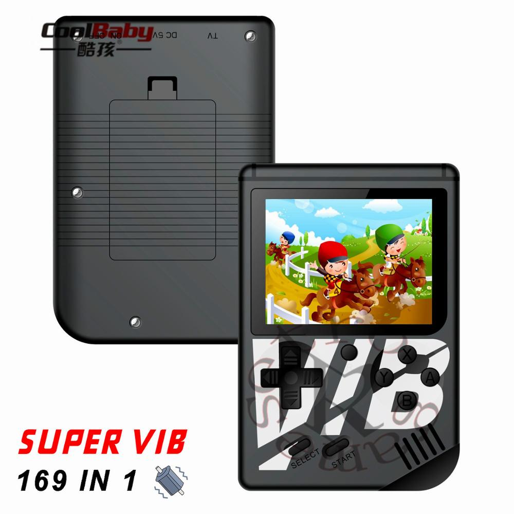 8Bit 3'' Mini Portable Super VIB Vibration Retro Video Game console Handheld Game Players Built-in 169 Classic Games with TV Out