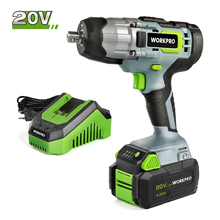 WORKPRO 20V Cordless Impact Wrench 1/2-inch 320 Ft Pounds Max Torque 2.0Ah Li-ion Battery with Fast Charger