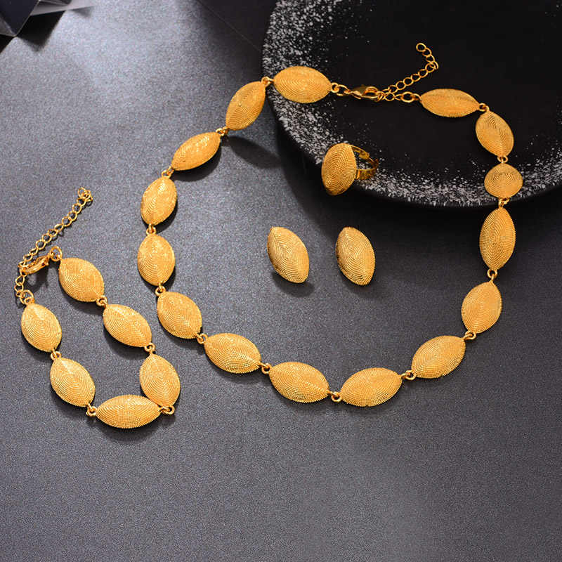 WANDO 24K Color oro de África Dubai conjunto de joyería para mujer etíope joyería de boda regalos africanos Islam Middle