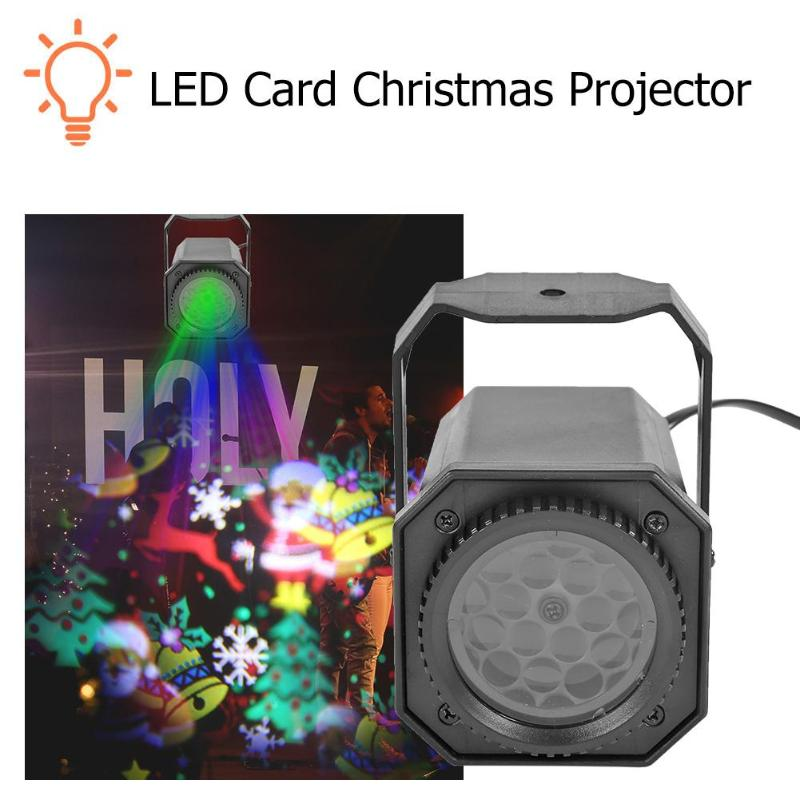 Image 4 - Christmas Pattern LED Laser Projector Colorful Rotating Stage Projector Lights DJ Disco Lamp for KTV Party Wedding Bar Home on AliExpress