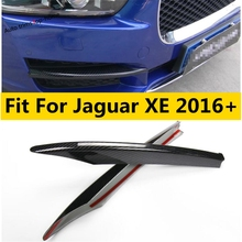 Zubehör Für Jaguar XE 2016   2019 Stoßfänger Vorne Nebel Lichter Foglight Lampe Abdeckung Trim ABS Chrom/Carbon Faser außen Kit