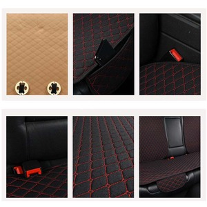 Image 5 - Housse de siège de voiture protecteur Auto lin avant arrière dossier arrière coussin de siège pour Auto automobile intérieur camion Suv ou Van