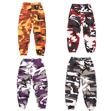 Vêtements vin pour enfants Hip Hop, vêtements de Camouflage pantalon pour filles, Costume pour Jazz et danse, salle de bal, vêtements de scène, collection survêtement