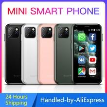 Soyes xs11 mini telefones celulares android 6.0 com corpo magro de vidro 3d hd câmera quad core google play mercado bonito smartphone pk 7s s10