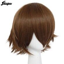 Ebingoo Anime Voltron Legendary Defender Pidge Wig Short Straight Brown Synthetic Cosplay Wig Heat Resistant Hair Wigs