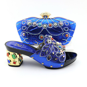 J21-3 Italian Shoes with Matching Bags High Quality Nigerian Women Party Pumps