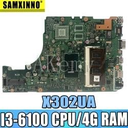X302UA płyta główna I3 6100 CPU 4GB pamięci RAM dla ASUS X302 X302U X302UA X302UJ oryginalne płyty głównej płyta główna X302UA płyta główna płyta główna laptopa płyty głównej płyta główna w Płyty główne od Komputer i biuro na