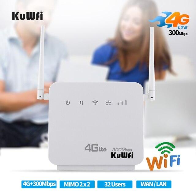 Débloqué 300Mbps Wifi routeurs 4G LTE CPE routeur Mobile avec Port LAN prise en charge de la carte SIM et Europe/asie/moyen-orient/afrique 3