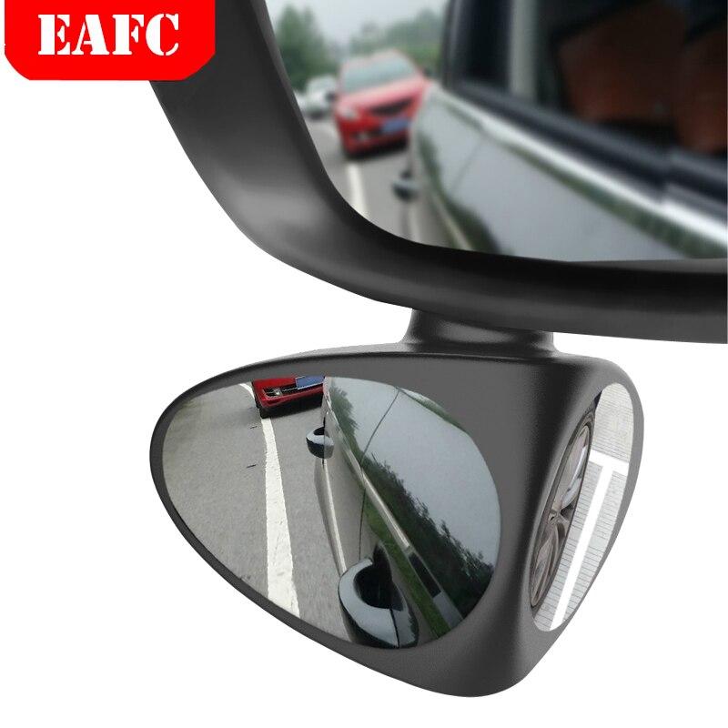 2 em 1 carro espelho de ponto cego grande angular espelho 360 rotação convexo ajustável vista traseira espelho da roda dianteira do carro auto espelho