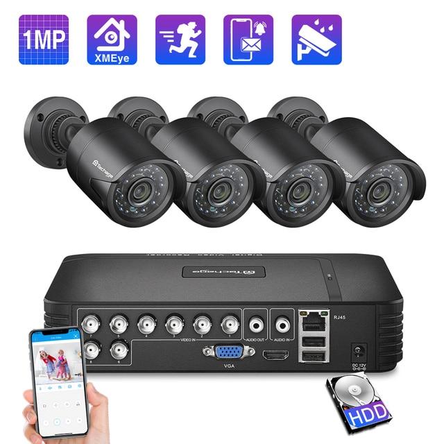 Techage 8CHระบบกล้องวงจรปิด 720P HDMI AHDกล้องวงจรปิดDVR 4PCS 1.0 MP IRกล้องรักษาความปลอดภัยกลางแจ้ง 1200 TVLชุดกล้องวงจรปิด 1TB HDD