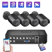 Techage 8CH CCTV sistema 720P HDMI AHD DVR CCTV 4 Uds 1,0 MP cámara de seguridad exterior infrarroja 1200 TVL cámara de vigilancia Kit 1TB HDD