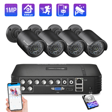 Techage 8CH CCTV sistemi 720P HDMI AHD CCTV DVR 4 adet 1.0 MP IR açık güvenlik kamera 1200 TVL kamera gözetim kiti 1TB HDD