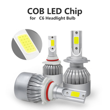 C6 Replace Chip COB LED Headlight Replacement Chips For H1 H4 H7 HB3 HB4 880 H13 9004 9007 Headlight Accessories For Auto
