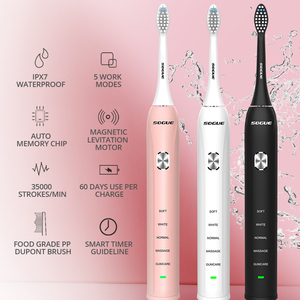 Image 2 - Sonic Electric Toothbrush 5 Functions 60 Days USB Rechargeable Maglev Motor Waterproof Ultrasonic Toothbrush Cepillo de Dientes