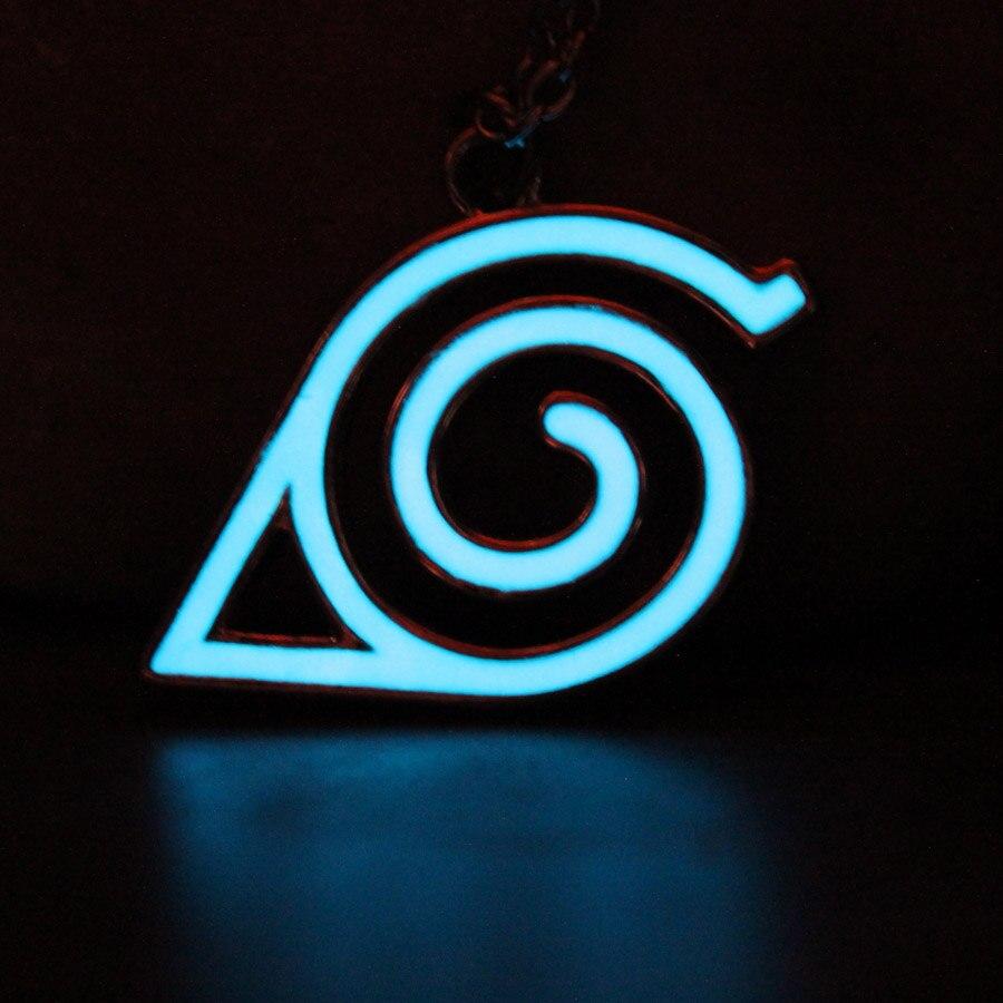 Anneau lumineux Bague de motif konoha lumineux en alliage daluminium Anime Naruto