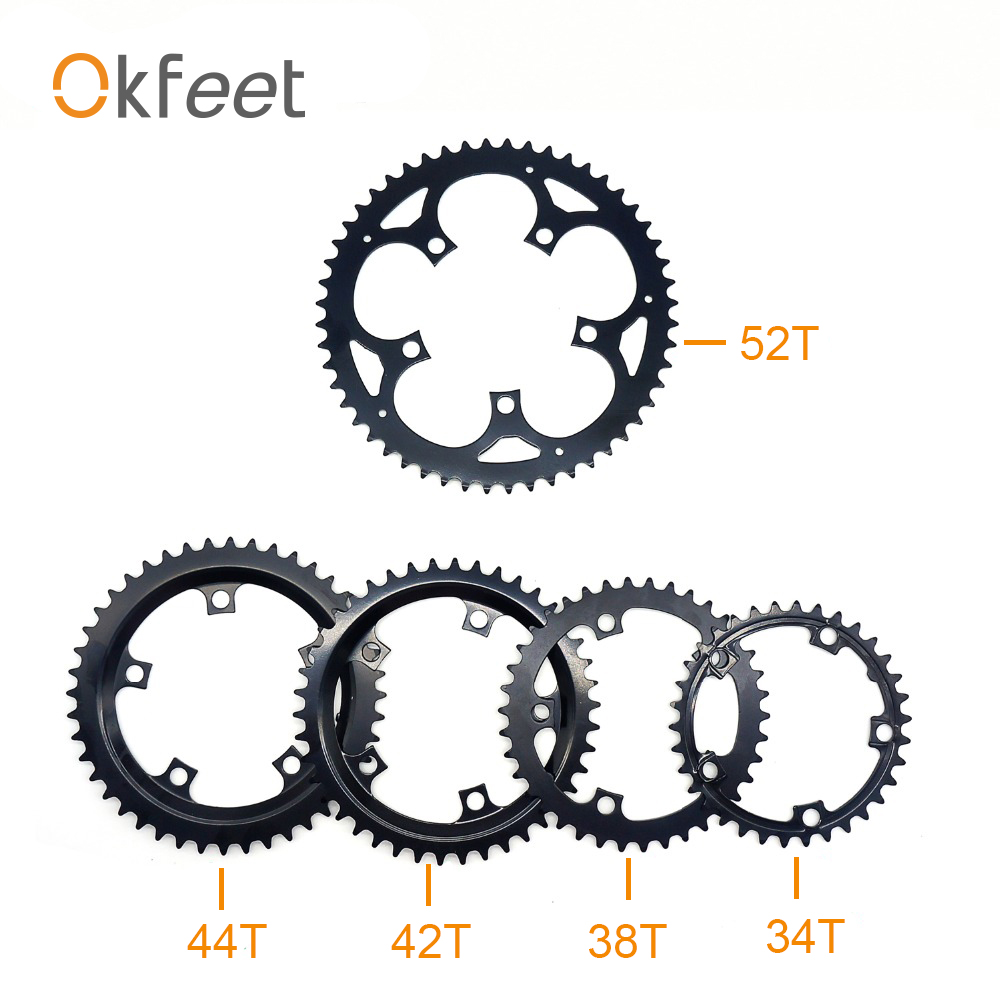 Okfeet TSDZ2 Tongsheng Mid Drive Motor 52T 48T 38T 36T 34T Chainwheel Chain Ring Set For Electric Bike Bicycle Kit