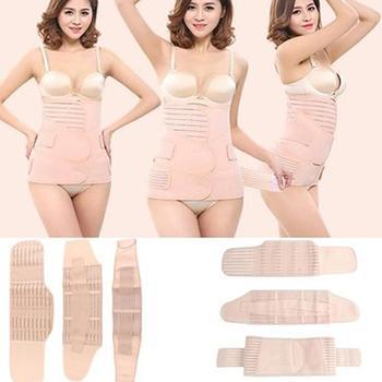 Women Body Shaper Belt 3 in 1 Elastic Postpartum Support Recover Belly Waist Pelvis Belt Sharpe Adjustable Body Shaper Belt body belt купить