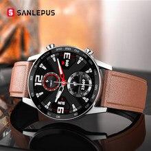 SANLEPUS-reloj inteligente para hombre, dispositivo resistente al agua IP68, con Bluetooth, llamadas, Monitor de salud para Android, Apple, Xiaomi, Huawei y OPPO, 2020
