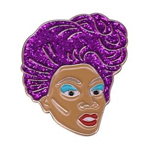 Жесткая эмалированная брошь RuPauls Drag Race, Значки для воротника, булавки для лацканов, Модные металлические ювелирные изделия из сплава, аксес...
