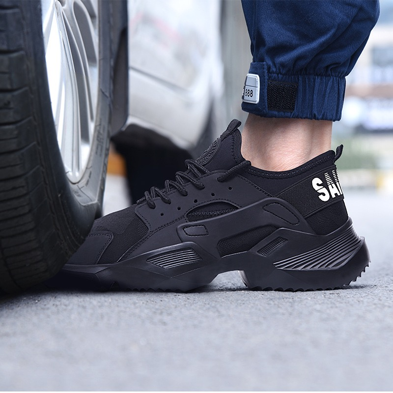 Free shipping Work Safety Boot Men Steel Toe Safety Shoes Puncture-Proof Outdoor Sneakers Men shoes Indestructible Shoes Ryder image
