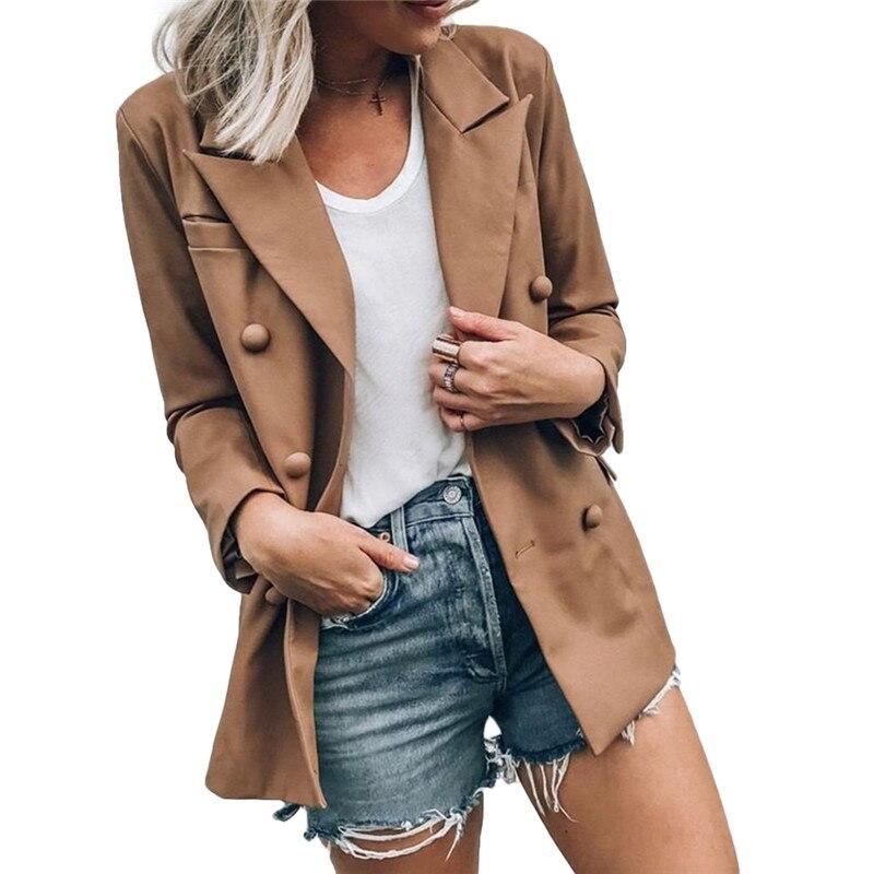 Fashion Women Long Sleeve Slim OL Blazer Elegant Ladies Business Suit Work Jacket Spring Coat Outwear Tops Dames Streetwear