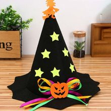 Halloween Pumpkin Witch Hat Children Adults Non-woven Party Hats Caps Cosplay Performance Props Halloween Xmas Party Supplies(China)