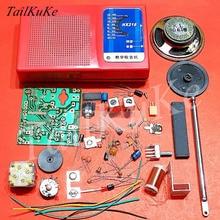 FM רדיו אלקטרוני חלקי DIY ערכת ערכת ייצור הרכבה רכיבים של הוראה והדרכה