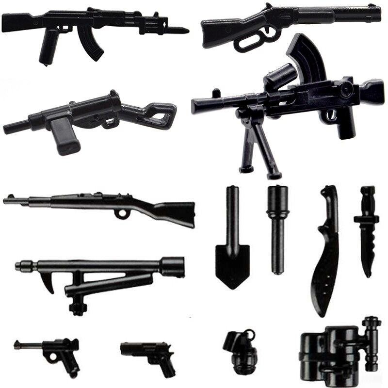 10 шт./лот WW2 военное оружие гусная винтовка Saber MOC для строительных блоков аксессуары игрушки для детей