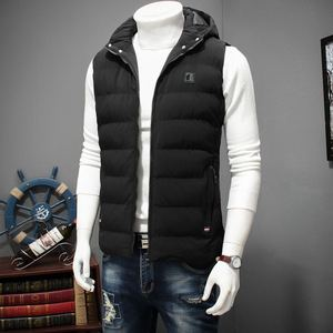 Image 2 - Winter Large Size Hooded Winter Vest For Men Sleeveless Jacket Coats Casual Warm Padded Mens down Waistcoat 6XL 7XL 8XL YT50164