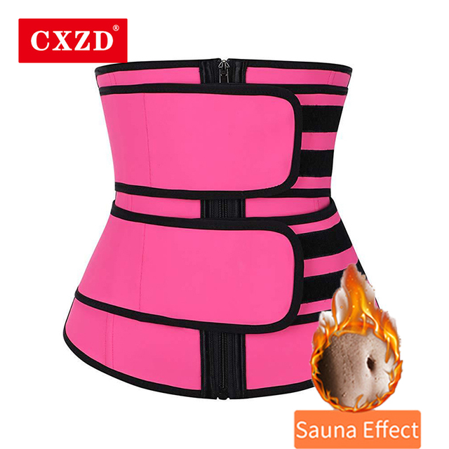 CXZD Waist Trainer Corset Sauna Sweat Belt for Women Weight Loss Compression Trimmer Workout Fitness Shapewear