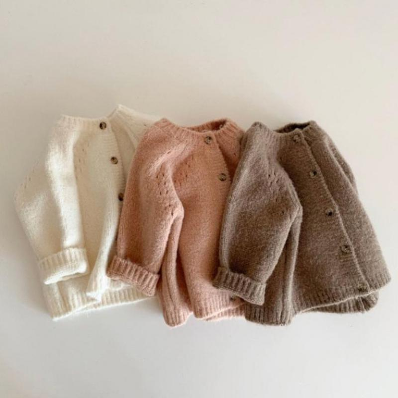Autumn New Baby Boys Girls Coat Baby Sweater Toddler Knit Cardigans Newborn Knitwear Long-sleeve Cotton Baby Jacket Tops