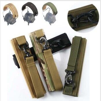 Модульный чехол для уличной гарнитуры Molle, головная повязка для обычных тактических наушников, чехол для наушников с микрофоном для охоты и ...