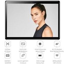10 дюймовый планшет с HD разрешением 1920*1200 HD 2.5D, закаленное стекло, Восьмиядерный, 4G LTE планшет, 32 Гб ПЗУ, планшет с двойной камерой + подарок