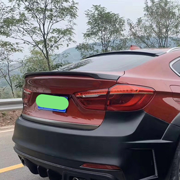 For BMW X6 F16 Spoiler 2015--2019 Year Rear Wing Mp Style Sport Body Kit Accessories Real Carbon Fiber image