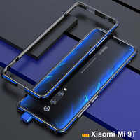 Para Xiaomi mi 9 caso funda Original de lujo brillante Alu mi num funda de protección para Xiaomi mi 9T Pro cubierta del teléfono de Metal carcasa de Marco + regalo