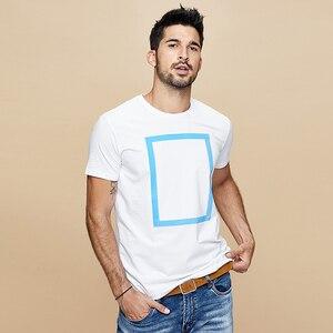 Image 2 - Kuegou 2020 verão algodão imprimir branco t camisa dos homens tshirt marca camiseta manga curta camiseta roupas de moda mais tamanho superior 1613