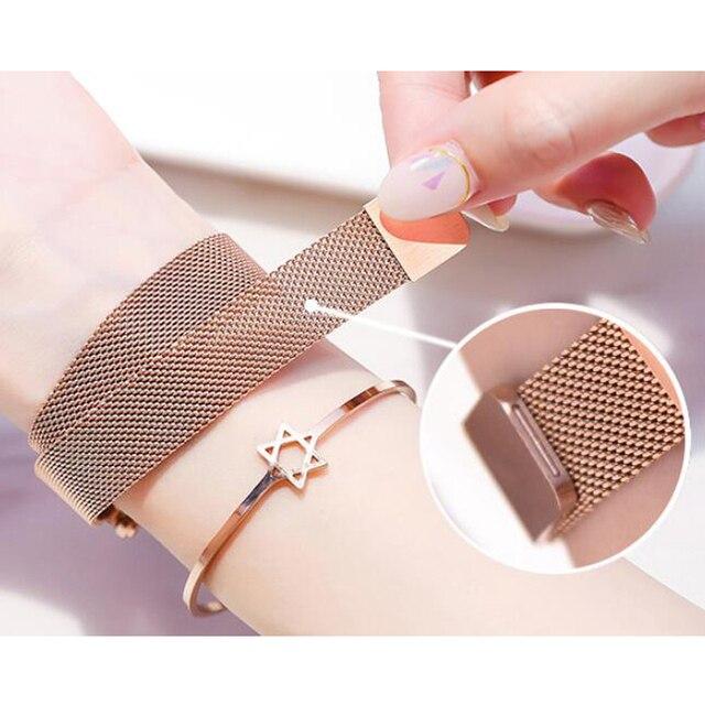 Women Watches Luxury Starry Sky Stainless Steel Mesh Magnetic Strap Ladies Watch Quartz Wrist Watch Relojes Zegarek Damski 4
