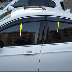 Image 4 - Para ford Mondeo13 18Window viseira escudo de chuva do carro toldo guarnição capa janela lateral defletor porta chuva sun shield lado janelas cobrir