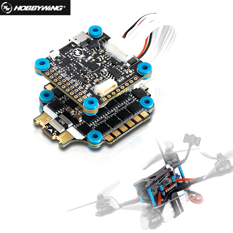 Hobbywing XRotor Micro 60A 4in1 BLHeli-32 6S ESC & XRotor Micro Flight Controller F4 GC For FPV Racing Drone Quadcopter